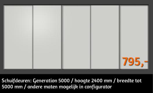 Generation 5000 schuifdeuren direct bestellen tegen bodemprijzen